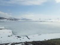 BARAJ GÖLETİ - Baraj Göleti Nisan Ayında Buz Tuttu