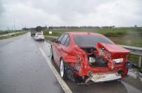 OKAN YıLMAZ - Karşı Şeride Geçen Otomobil Sürücüsü Ölümden Döndü