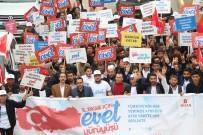 DEMOKRAT PARTI - TÜGVA'nın 'Evet' Yürüyüşü, Şırnak Sokaklarını İnletti
