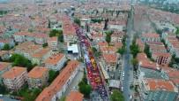 HALK PAZARI - Bakırköy'de 1 Mayıs Kutlamalarına Giden Gruplar Havadan Görüntülendi