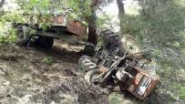 AKTOPRAK - Şarampole Uçan Traktörden Yara Almadan Kurtuldu