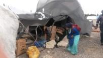 YEŞILTEPE - AFAD'dan Fırtınadan Etkilenen Mevsimlik İşçilere Yardım