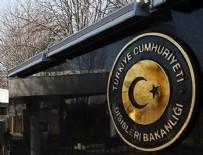 MÜSAMAHA - Dışişleri Bakanlığı'ndan Almanya'ya iltica tepkisi