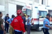 Hastane İnşaatından Düşen Suriyeli İşçi Yaralandı