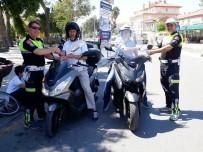 HÜSEYIN AYDıN - Milas'ta Polis Sürücülere Gül Dağıttı
