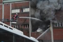 YÜCEL YAVUZ - Trabzon'da Mobilya Fabrikasında Sabah Saatlerinde Çıkan Yangın Sürüyor