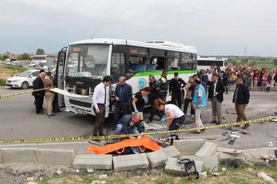 Beton mikseri ile halk otobüsü çarpıştı: 2 ölü, 7 yaralı