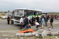 KAPAKLı - Beton mikseri ile halk otobüsü çarpıştı: 2 ölü, 7 yaralı