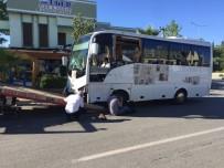 OSMAN GÜNGÖR - Kontrolden Çıkan Otobüs Pide Dükkanına Daldı