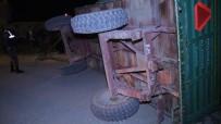 Konya'da Tarım İşçilerini Taşıyan Traktör Kaza Yaptı Açıklaması 12 Yaralı