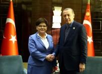 POLONYA - Cumhurbaşkanı Erdoğan, Polonya Başbakanı Syzdlo'la Görüştü