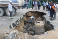 Kırıkkale'de Çöken Yol Korkuttu