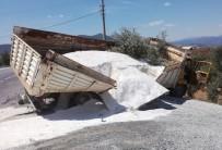 ZEYTINLIK - Milas'ta Maden Yüklü Kamyon Kaza Yaptı; 1 Yaralı