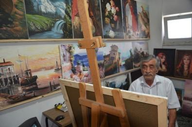 Bob Ross hayranı Zonguldaklı, TV'den izleyerek ressam oldu