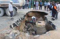 Kırıkkale'de Yol Çöktü