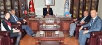 KAYIT DIŞI - SGK Yöneticilerinden, Başkan Yücelik'e Ziyaret