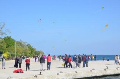 Sinop'ta Gökyüzü Uçurtmalarla Renklendi