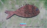 REKOR DENEMESİ - 2791 Kişiyle Dünyanın En Büyük Balık Figürü Oluşturuldu