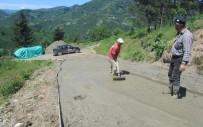 Fatsa'da Beton Yol Çalışması