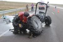 Karaman'da Çekici Traktöre Çarptı Açıklaması 1 Ölü