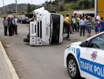 KARAGEDIK - Muğla'da öğrenci servisi devrildi: 5 yaralı
