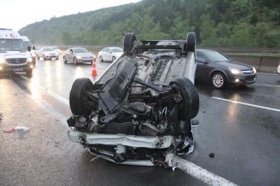 Bolu TEM'de Kaza Açıklaması 5 Yaralı