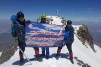 ERCIYES - Gürünlü Dağcılar Erciyes Dağı'na Tırmandı