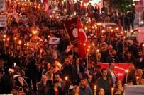 Samsun'da 3 Bin Kişilik Fener Alayı Yürüyüşü