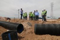 İSTİNAT DUVARI - Aksaray'da Yağmur Suyu Hattı Döşeniyor