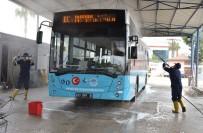 GRİP - Mersin'de Belediye Otobüsleri Dezenfekte Ediliyor