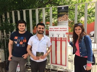 Uşak'ta Oylar Sigara İzmariti Panolarına Atılıyor
