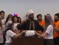 DİNE HAKARET - Ankara Üniversitesi'nde skandal görüntü