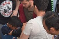 OSMANGAZİ ÜNİVERSİTESİ - Suriyeli Çocuğun Porsuk Çayı'na Düşme Anı Kamerada