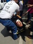 PAZARCI - Manavgat'ta Motosiklet Kazası Açıklaması 1 Yaralı