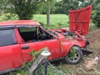 Otomobil Tarlaya Girdi Açıklaması 1 Yaralı