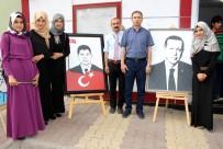 HAT SANATı - Atatürk Kız Anadolu İmam Hatip Lisesinden Resim Sergisi