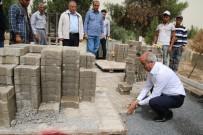 CEYLANPINAR - Ceylanpınar İlçe Mezarlığında Bakım Onarım Devam Ediyor