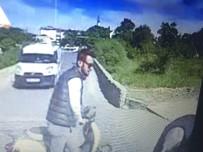 Motosikletle Bisikletin Çarpışması Güvenlik Kameralarına Yansıdı