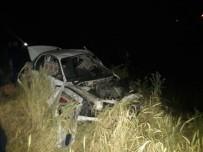 Otomobil Şarampole Yuvarlandı Açıklaması 1 Ölü 3 Yaralı