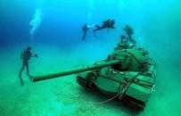 ÜRDÜN - 45 Tonluk Tank, Deniz Dibine İndirildi