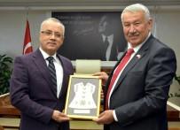 PAŞAKÖY - Başkan Kayda Kıbrıslı Başkan Tülücü'yü Ağırladı