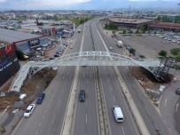 ENGELLİ ASANSÖRÜ - Büyükşehir'den, Bir Gecede Yaya Köprüsü