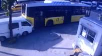 OKMEYDANı - Kontrolden Çıkan Araç İETT Otobüsüne Çarptı