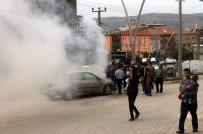Mardin'de Seyir Halindeki Otomobil Yandı