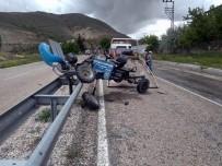 Otomobil İle Çapa Motoru Çarpıştı Açıklaması 1 Yaralı