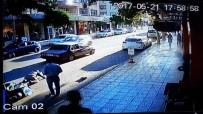 MİMAR SİNAN - Otomobilin Elektrikli Bisiklete Çarpması Kameralara Yansıdı