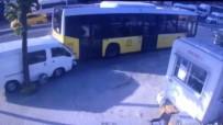 OKMEYDANı - Beyoğlu'nda Kontrolden Çıkan Araç İETT Otobüsüne Böyle Çarptı