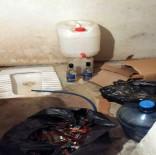 KAÇAK İÇKİ - 1 Milyon TL'lik Kaçak İçki Tuvalet Hortumuyla Doldurulmuş