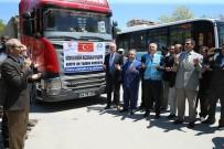 ÖNCÜPINAR - Kütahya'dan Suriye'ye 7 Tır Un Yardımı