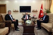 İSMAIL USTAOĞLU - MHP İl Başkanı Bekir Kasap, Vali İsmail Ustaoğlu'nu Ziyaret Etti